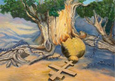 Приглашаем посетить выставку Виолетты Пригожиной «Поэзия Серебряного века в красках»