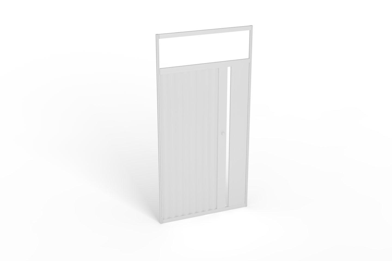 Дверь раздвижная с замком