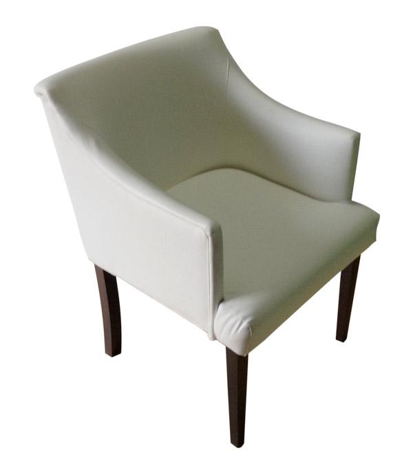 Кресло белое (экокожа)