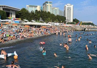 С начала 2019 года курорты Сочи приняли больше российских туристов, чем Турция.