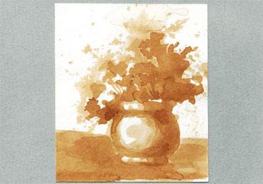 Научитесь создавать картины чёрным чаем