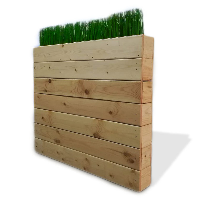 Decorative stand with artificial grass