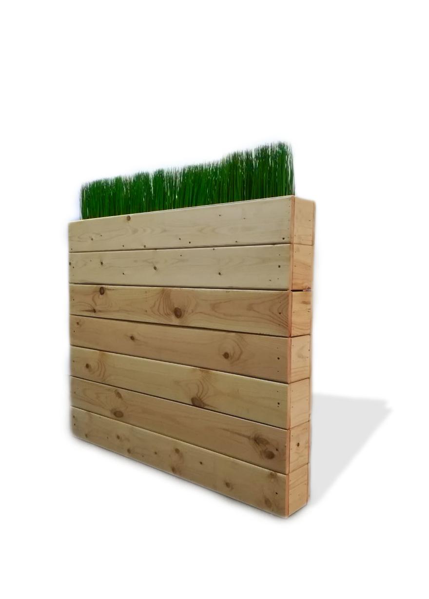 Декоративная стойка с искусственной травой