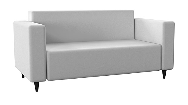 Sofa (white eco-leather)