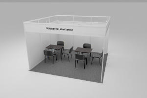 Stand of 13 sq.m. angle type - 3.6 x 3.6 m.