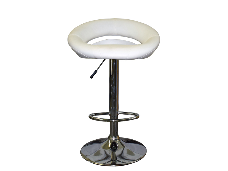 Bar chair white (faux leather)