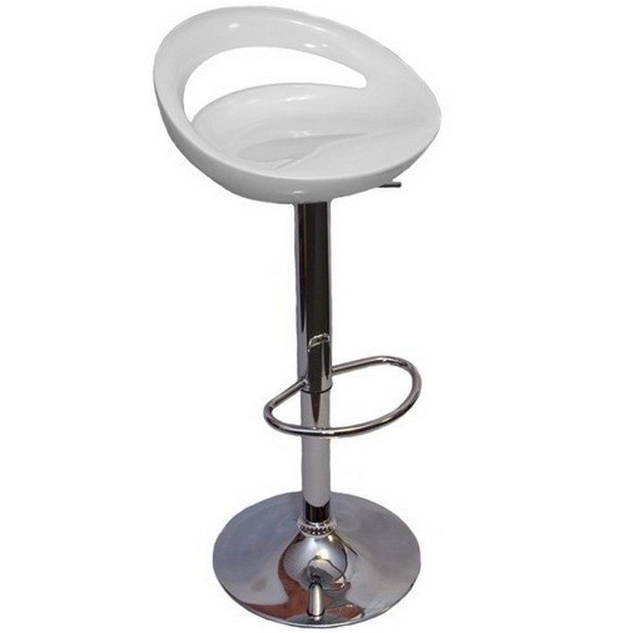 Bar chair white «Disco»