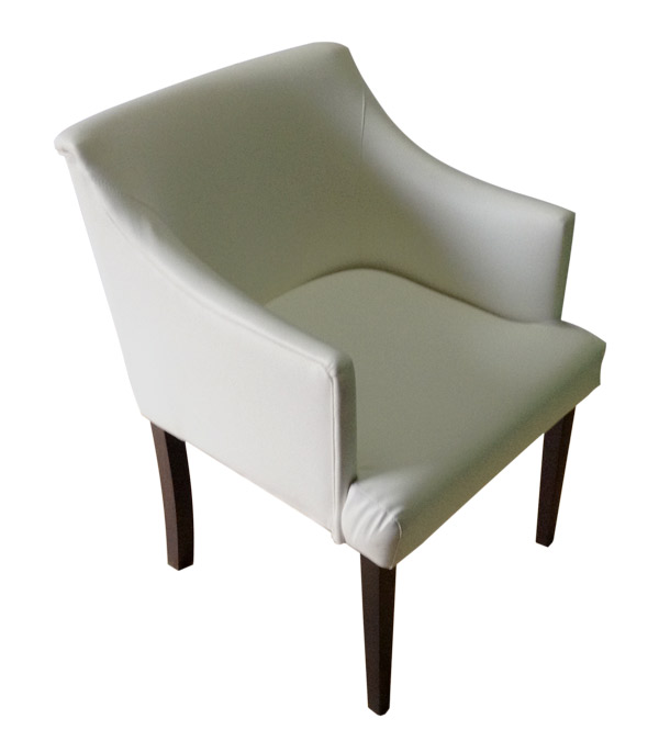 White chair Fil (eco leather)