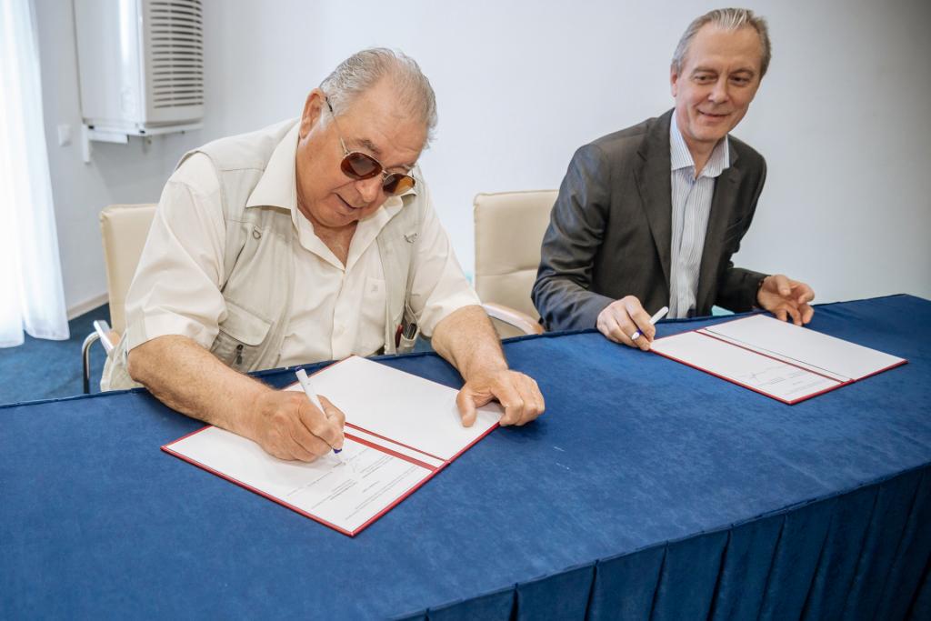 церемония официального подписания Соглашения о взаимодействии между ООО «СОУД – Сочинские выставки» и Союзом Российских Пивоваров на 2019 год